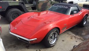 1969 Corvette Stingray 396 Convertible Red