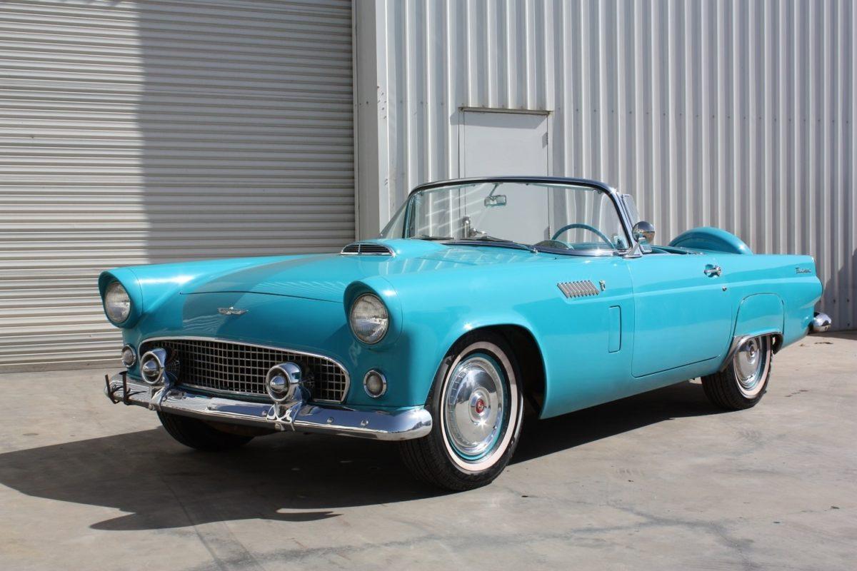1956 Ford Thunderbird blue
