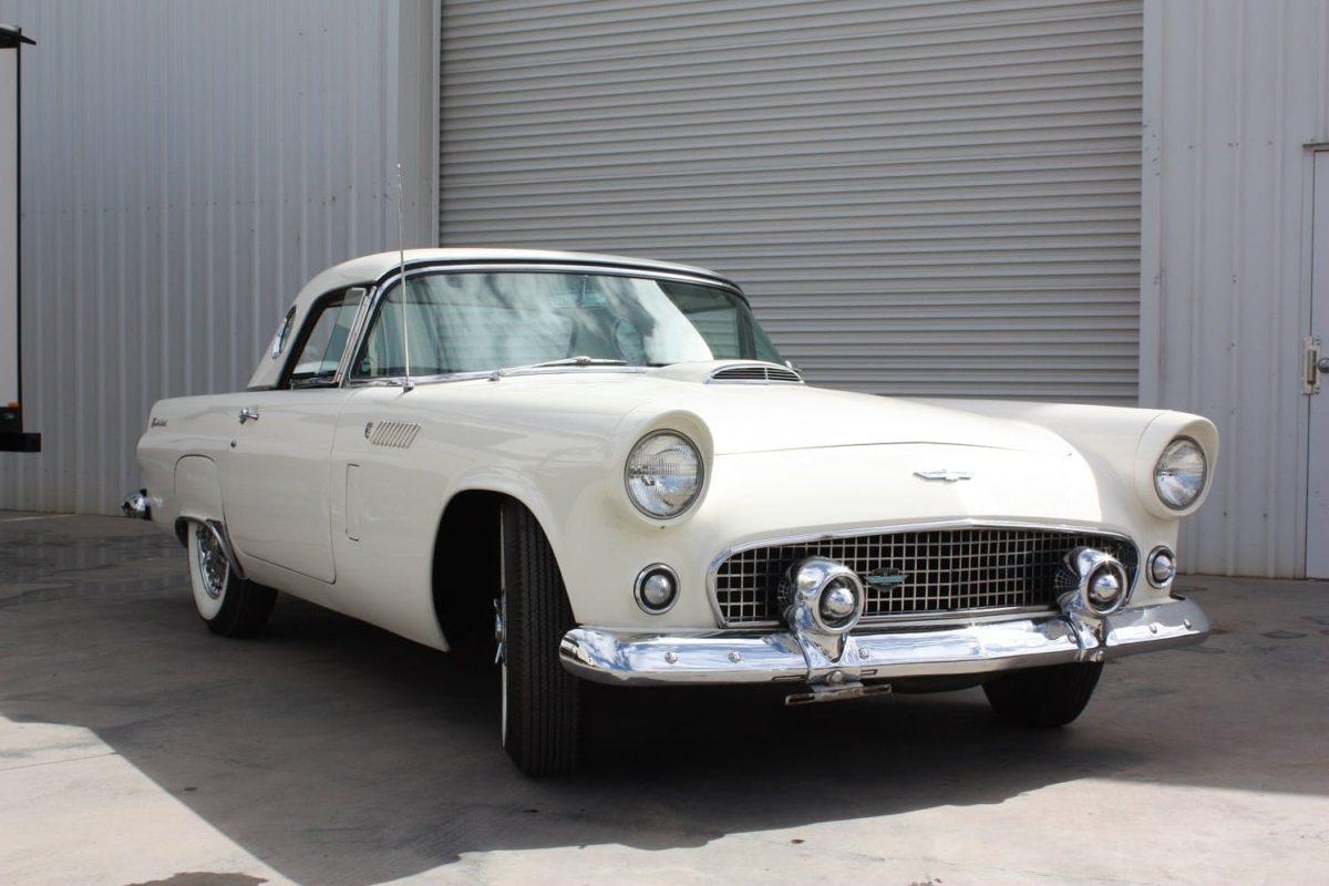 1956 Ford Thunderbird white
