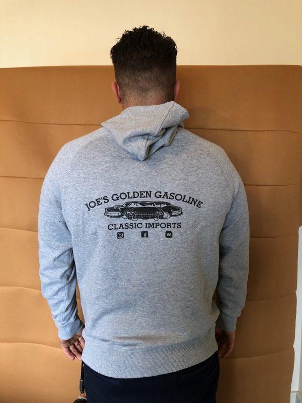 Grey Hoodie Back View